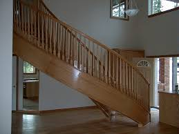 Stairs: Inspiring Wood Stair Parts Cheap Stair Parts, Ez Stairs ... Stairs Amusing Stair Banisters Baniersglsstaircase Create Unique Metal Handrailings With Pinnacle Staircase And Hall Contemporary Artwork Glass Banister In Best 25 Glass Balustrade Ideas On Pinterest Handrail Wwwstockwellltdcouk American White Oak 3 Part Dogleg Flight Frameless Stair Railing Elegant Safety Architecture Inspiring Handrails For Beautiful Amusing Stright Banister With Base Frames As Decor Tips Cool Banisters Ideas And Newel Detail In Brown
