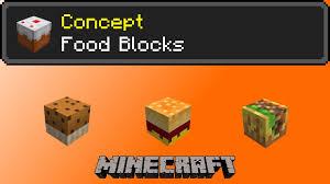 Food Blocks Minecraft Concept