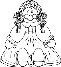 Doll Dress Scary Old Colouring Page