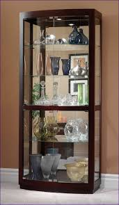 kitchen room marvelous small lighted curio cabinet glass fronted