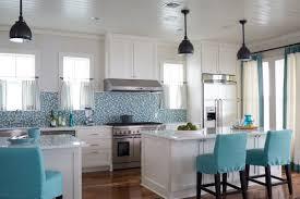 2016 Kitchen Decor Custom Turquoise Counter Stool With Two Islands Ideas