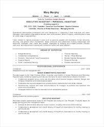 President Job Description Sample Executive Personal Assistant Resume Samples Template