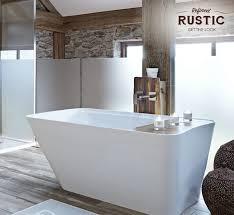 rustic small space bath plum rustikale badezimmer