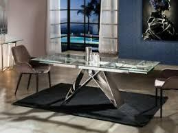 esstisch edelstahl designertisch luxustisch ausziehbar