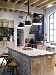Rustic Wood Kitchen Cabinetry Industrial Chic Murphy Mears Architects