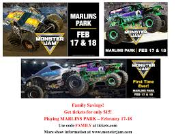 100 Monster Truck Show Miami For The First Time At Marlins Park Jam Discount Code