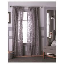 Gray Sheer Curtains Target by Botanical Burnout Sheer Curtain Panel Purple 54