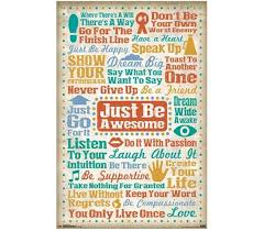 Just Be Awesome Poster Dorm Wall Decor Best Items For College Buy