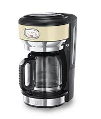 Russell Hobbs EU Retro Vintage Cream Coffee Maker With Glass Carafe 21702 56