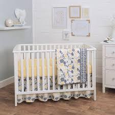 Balboa Baby 3 Piece Baby Girl Crib Bedding Set Yellow and Grey