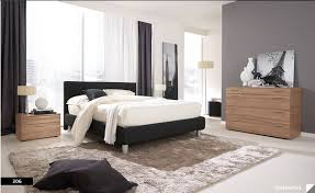 White And Gray Bedroom Design With Black Bed Colombini
