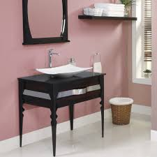 Where Are Decolav Sinks Made by Decolav Natasha Bathroom Vanity In Two Finishes Black Limba Body