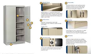 Tennsco Steel Storage Cabinets by Tennsco 6615 Smart Space Cabinet With 5 Openings 30x15x66 L
