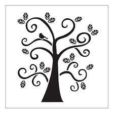 Curly Tree Small Painting Stencils