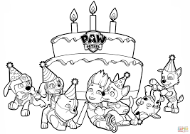 Ryders Birthday Hard Paw Patrol Coloring Pages Ryder