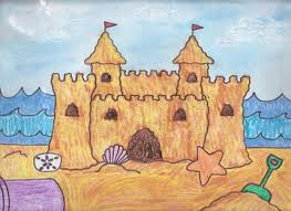 To Draw A Sand Castle We Start By Drawing Some Simple Squares And Rectangles In The Middle Of Paper Its Good Idea Center
