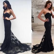 black mermaid prom dress 2017 lace prom dress prom dress