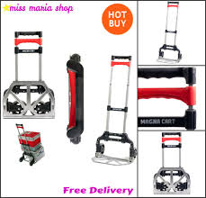 Folding Cart Hand Truck Trolley Carrier Wheels Handle Extender ... Potted Plant Hand Truck Thegreenheadcom Green House Magna Cart Folding Personal 150lb Alinum The Best Trucks For 72018 On Flipboard By Mytopstuff Ideal 150 Lb Capacity Steel Amazoncom Harper 500 Quick Change Convertible Mcx Lbs Hktvmall Flatform Platform Model Ff Rockler Woodworking Cheap Small Find Deals Mci