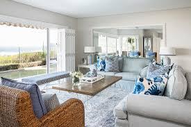 elegantes wohnzimmer mit panoramablick bild kaufen