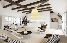 Beige Sectional Living Room Ideas by Living Room Exposed Ceiling Beams Also Suspended Lamp Shade Plus