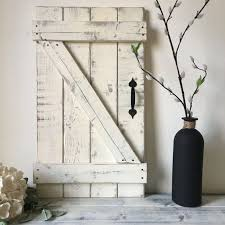 RUSTIC GALLERY WALL Rustic Shutters Fixer Upper Style Wood Mini Barn Door Wall Hanging Decor Farmhouse Chic