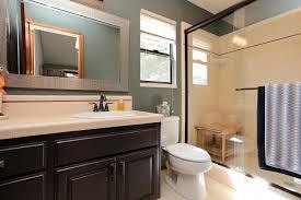 3 4 bathroom with limestone tile floors drop in sink in