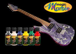 Guitar With Marbelized Paint