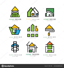 100 Interior Designers Logos Set Of Abstract Linear Logos For Construction Or Architecture