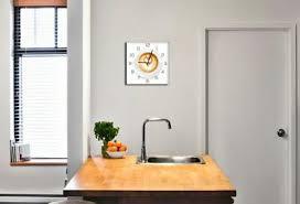 wanduhr aus glas 30x30cm uhr als glasbild küche cappuccino coffee deko küchenuhr
