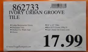 neo tile groove ivory porcelain tile 10 sq ft costco price
