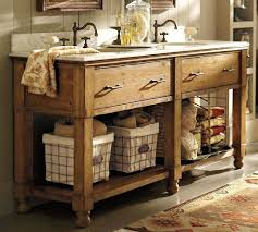 Country Bathroom Cabinets Farmhouse Vessel Sink With Vanity Rustic Vanities Log French