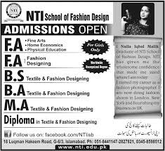 NIT Islamabad Admission In FA, Fashion Designing, BA/BS/MA ... Ba Hons Fashion Design With Knitwear Central Saint Qut Bachelor Of Honours Womenswear Master Programme At Istituto Marangoni Intensive Course Learn Designing At Home Best 25 Design Software Ideas On Pinterest Grafton Academy Pattern Cutting Online Courses Cad Free Demo Class Hindi Distance Course Study From Home Emejing Images Interior Beautiful Gallery Decorating