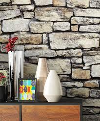newroom papiertapete steintapete grau steintapete ziegelstein backstein mauerwerk klinker stein tapete steinoptik wohnzimmer tapete steinoptik