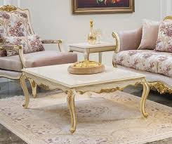 casa padrino luxus barock couchtisch weiß gold 121 x 81 x h 44 cm edler massivholz wohnzimmertisch im barockstil barock wohnzimmer möbel