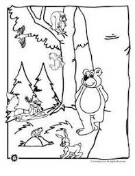 Free Printable Forest Animals Bear Coloring Page For Kids Print Out In Sheet Online