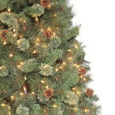 Pine Cone Christmas Tree Lights by Martha Stewart Prelit Christmas Tree Christmas Lights Decoration