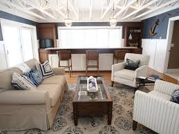 Nautical Living Room Furniture by White Shelves Double Hung Windows Trim Fireplace Arm Chairs Window