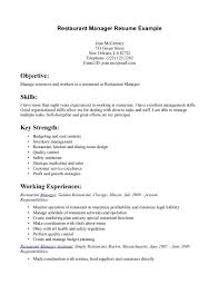 Restaurant Server Resume Examples Template Free