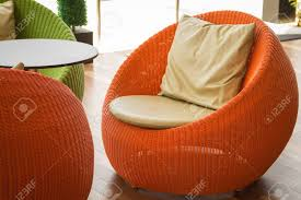 Orange Outdoor Wicker Chairs With Cushions. Stock Photo, Picture And ... Red Barrel Studio Dierdre Outdoor Wicker Swivel Club Patio Chair Cosco Malmo 4piece Brown Resin Cversation Set With Crosley Fniture St Augustine 3 Piece Seating Hampton Bay Amusing Chairs Cushions Pcs Pe Rattan Cushion Table Garden Steel Outdoor Seat Cushions For Your Riviera 4 Piece Matt4 Jaetees Spring Haven Allweather Amazoncom Festnight Ding Of 2