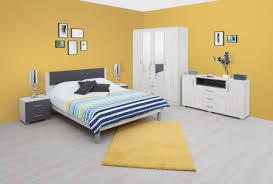 schlafzimmer komplett set k bermeo 6 teilig farbe eiche weiß anthrazit