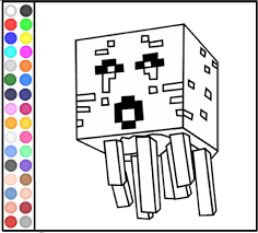 Minecraft Ghost Coloring Games