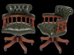 fauteuil de bureau vert fauteuil de bureau anglais captains longfield 1880