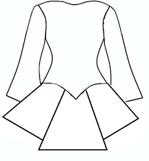 wedding dress outline for card
