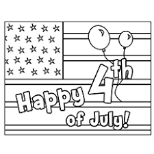 4th Of July Coloring Pages American Flag To Host On Printable