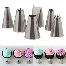6Pcs Set Different Style Cake Icing Piping Nozzles Tips Fondant Cupcake Sugarcraft Decorating HF318 On Aliexpress