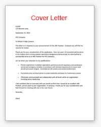 Military Cover Letter Example