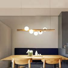 zmh pendelleuchte aus holz rustikal esstisch hängele hängeleuchte kugel aus glas pendelle mit g9 leuchtmittel retro deckenleuchte für esszimmer