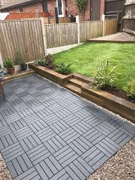 Kon Tiki Wood Deck Tiles by Ikea Runnen Decking Tiles Used To Create A New Garden Driveway