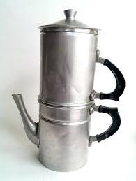 Vintage Italian Coffee Machine Rare 8 Cup Stove Top Espresso Drip Maker