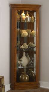 Pulaski Glass Panel Display Cabinet by Corner Curio Cabinet Golden Oak Ii Pulaski Curios Amazon
